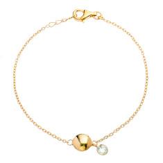 Felicity bead charm bracelet with green amethyst