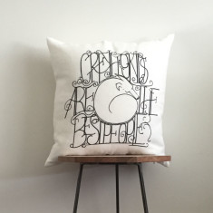 Greyhounds are the Best People - Linen Cushion