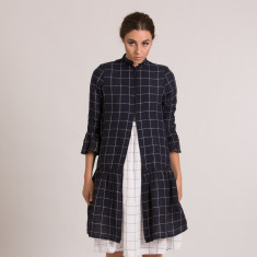 Didi Dress in Navy Check