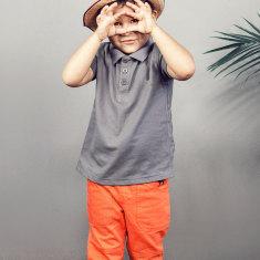Boy's trousers in orange