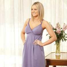 Organic cotton nursing nightie in evening sky