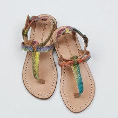 Como snakeskin t-bar sandal
