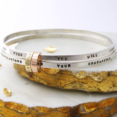 Personalised Silver And Gold Hoop Bangle