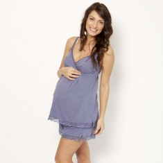 Organic cotton nursing cami in evening sky