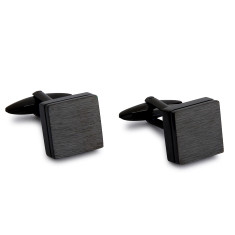Black Square Slate Cufflinks