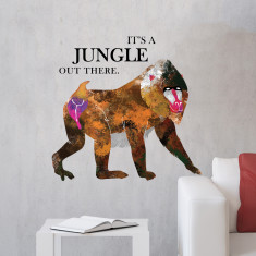 Monkey in the fungle wall sticker