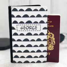 Monochrome Personalised Passport Cover