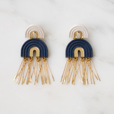 Two Arch Tassel Earrings