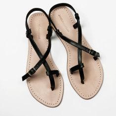 Piana black sandals