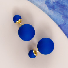 Bubble Earrings In Navy Blue