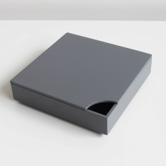 Wa's Objects small square tray with lid in grey