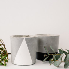 Raw Impressions black & white duo concrete candles