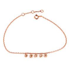 Twinkle 5 Diamond Bracelet In Rose Gold Plate