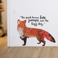 Quick brown fox wall sticker