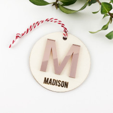 Personalised Initial Acrylic Name Ornament