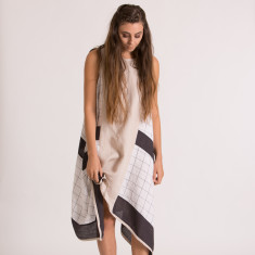 Katie Panel Dress in Wheat