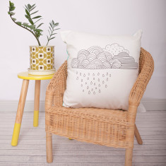 Raincloud design DIY cushion kit