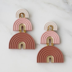 Three Arch Earrings