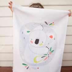 Pete Cromer koala design DIY tea towel kit