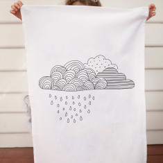 Raincloud design DIY tea towel kit