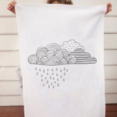 Raincloud design DIY tea towel kit