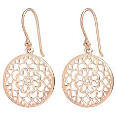 Mandala earrings in rose gold plate