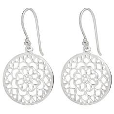 Mandala earrings in silver