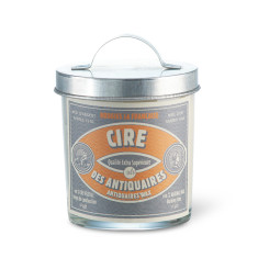 Scented candle with galvanised lid