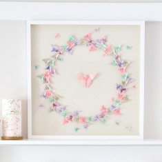 Framed Pastel Butterfly Artwork