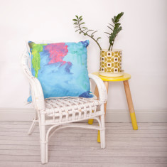 Custom made child's art cushion