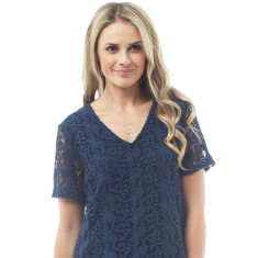 Tillie top in navy