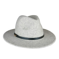 Oslo Fedora In Light Grey Marle