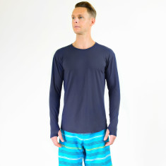 Men's long sleeve breathable rashie with UPF 50+