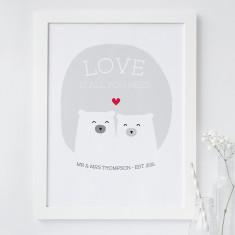 Bear Love Print