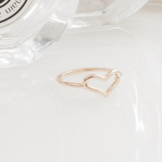 Heart ring 18k gold vermeil