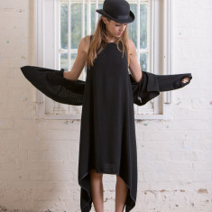 Haley Dress in Liquorice