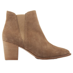 Lauren Taupe Suede Ankle Boots