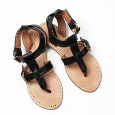 Lipari sandals in black