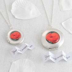 Personalised Poppy Locket Necklace