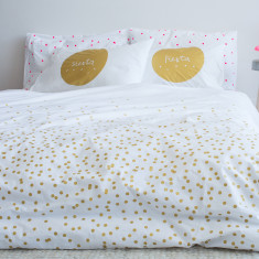 Gold sprinkle sprinkle organic cotton doona