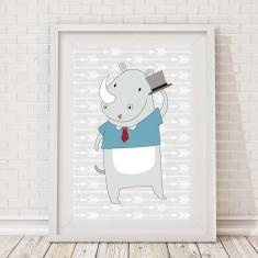 Hipster rhino print