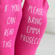 If you can read this personalised prosecco socks