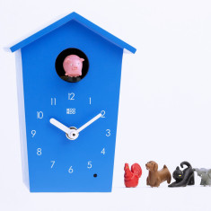 Animal House Blue Children Wall or Mantel Clock
