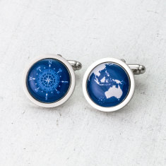 Globe and Compass Cufflinks