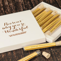 Personalised reasons why you're wonderful keepsake