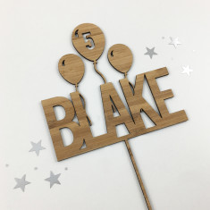 Bold Name Personalised Cake Topper