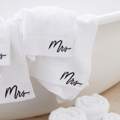 Mrs & Mrs Bath Sheet Gift Set