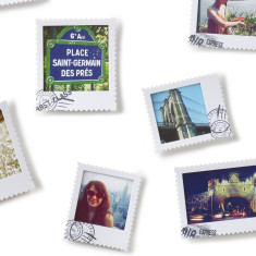 Umbra postal photo display in white (various sizes)