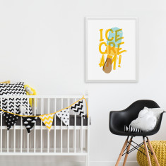 Yellow Popsicle Print