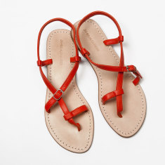 Piana tangerine sandals